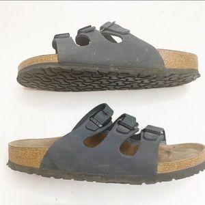 Birkenstock Gray Florida Sandals size 38 Narrow.
